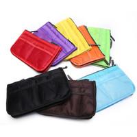 Wholesale green purse organizer insert for sale - 100pcs Convenient Colors Multi function Handbag Purse Organizer Insert Phone Cosmetic Bag For Travel Bag