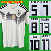 Wholesale Uniform Germany - 2018 WORLD CUP GERMANY soccer jersey MULLER OZIL KROOS HUMMELS WERNER REUS SANE football shirt camisetas de futbol maillot uniform kit