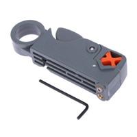 ingrosso stripper coassiale del taglio del cavo-1Pc Coaxial Household Multi Tool Cable Stripper / Cutter Tool Stripper coassiale rotante per RG59 / 6/58 Metal Network Tool Wire Stripper
