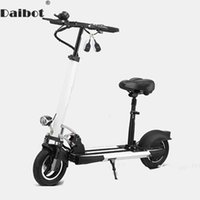 Wholesale white wheels for bike for sale - Group buy Daibot Electric Kick Scooter With Seat For Adults W Two Wheel Electric Scooters Foldable Inch V V Portable Folding Electric Bike