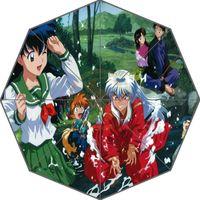 Wholesale Inuyasha Anime - New Arrive Inuyasha Anime cool Umbrellas Suprised Gift For Birthday Friend
