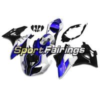 mercado de accesorios de motocicletas de plástico al por mayor-Carenados completos para BMW S1000RR Año 11 12 13 14 2011 - 2014 Sportbike Kit de carenado de motocicleta ABS plástico Aftermarket HP4 Blanco Cascos azules