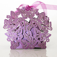 Wholesale Wholesale Wedding Bonbonniere - 10pcs lot Hollow Butterfly Europen Style Candy Boxes Bonbonniere Romantic Wedding Decoration Baby shower birthday party Gift box