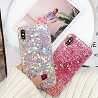 Wholesale bling phone designs - Thick Housing Cover Shell Soft Silicone Case Phone Protection Bling Design IMD Cases for iPhone X 6 6S 7 8 Plus for couples
