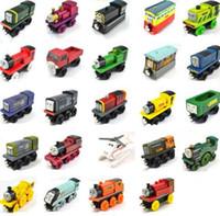 ingrosso set di treni magnetici in legno-Veicoli giocattolo in legno Treni in legno Modello giocattolo Treno magnetico Grandi bambini Giocattoli di Natale Regali per ragazze dei ragazzi