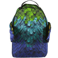 Wholesale school wing for sale - Group buy Heaven wing backpack S feather daypack Green SPG schoolbag Spray rucksack Sport school bag Outdoor day pack