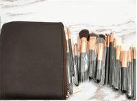 Wholesale best eyeshadow brushes online - Best Quality Brown Brush Set Professional Makeup Brush Set Eyeshadow Eyeliner Blending Pencil Cosmetics Tools With PU Bag