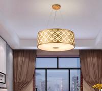 Wholesale fabric lamp cord resale online - led e27 New Chinese Iron Fabric LED Lamp LED Light Pendant Lights Pendant Lamp Pendant light For Dinning Room Foyer Bedroom LLFA