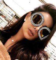 Wholesale blue diamonds music - Glasses letter logo sunglasses diamonds sunglasses fashion trend men and women fashion glasses