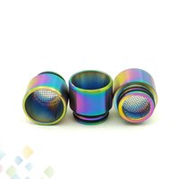 Wholesale tfv8 drip tip stainless for sale - Group buy 810 Anti frying Oil Stainless Steel Drip Tip Filter Net Mouthpeice Rainbow SS Colors for Vape TFV8 TFV12 Resa Prince DHL Free