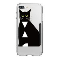fundas de silicona para iphone al por mayor-Funda para teléfono para iPhone X 8/7 8PLUS / 7PLUS Funda para teléfono Cat Cat Owl Design Soft Silicon Mobile Phone Bag
