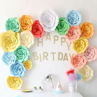 ingrosso carte di decorazione di sfondo-Fiori di carta Sfondo per la festa di compleanno di compleanno Decorazione fai da te favore baby shower ecc