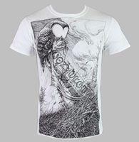 t shirt coruja venda por atacado-Camiseta Herren Converge Horkey Coruja Branco KINGS ROAD - Grobe XXL