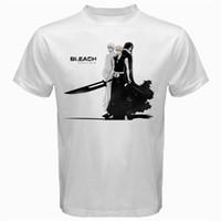 ingrosso candeggina personalizzata-Candeggina e Ichigo kurosaki hollow reaper manga anime Tshirt Bianco Mens 2018 fashion Brand T Shirt Top Tee personalizzato Ambientale