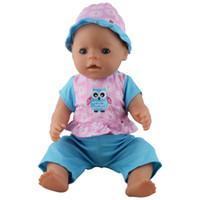ingrosso cappelli di compleanno blu-Nuovo stile blu cappotto + cappello + pantaloni, vestiti per le bambole wear fit 43 cm Baby Born zapf, bambini migliori regalo di compleanno