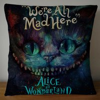 Wholesale alice case for sale - 2 Sides alice in wonderland through the looking glass Square Pillowcase Soft Zippered Throw Pillow Cover Cushion Case