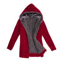 manteau d'hiver noir sexy achat en gros de-Hiver Sexy Designer Vestes avec Zipper Femmes Noir Rouge Gris Veste À Manches Longues Manteau Lâche M-3XL