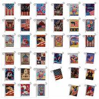 eua bandeira americana venda por atacado-33 projetos EUA União Jardim Partido Bandeira Home Decor Americano Série Bandeira Padrão de Dupla Face Jardim Bandeira Casa Gramado Decoração 47 * 32 cm FFA1929 50 pcs