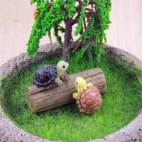 Wholesale garden fairies resale online - Micro Landscape Ornament Simulation Small Tortoise Manual Natural Resin Artificial Lovely Mini DIY Fairy Garden Miniatures xj bb