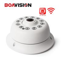 беспроводная проводная камера cctv оптовых-HD 1080P беспроводной WIFI IP-камера 360 градусов рыбий глаз с аудио домашней безопасности CCTV Wi-Fi камеры ONVIF TF слот для карты приложение CamHi