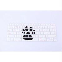 macbook retina klavye cilt toptan satış-Hayvan Ayakizi Desen Silikon Klavye Kapak Cilt Koruyucu Tüm Macbook Pro Hava Retina için 13