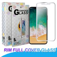 Wholesale apple print screen - Silk Printing Tempered Glass Full Coverage Screen Protective Film Guard Anti Explosion H Hardness Screen Protector For iPhone X Plus