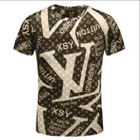 Wholesale Designer Casual Shirts Women - G & G 2018 Brand new Hip Hop 100% Cotton winter men's t-shirt Short Sleeve women shirt men tee hip 3D Designer mens t shirts
