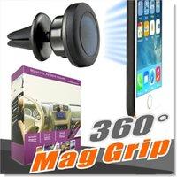 havalandırma cep telefonu tutacağı toptan satış-Manyetik Araba Hava Firar Montaj Tutucu MagGrip 360 Rotasyon Evrensel Cep Telefonu Sahipleri iPhone ve Android Akıllı Telefonlar için Döner Kafa, GPS