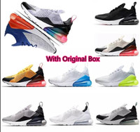 Wholesale pvc photo - Men 270 Shoes OG Sports Sneakers tiger Dusty cactus Running Volt in white and hot Punch Photo Men's Shoe total Orange Grape Trainers