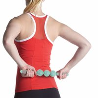 Wholesale yoga rollers resale online - Three Hedgehog Balls Massage Stick Motion Roller Yoga Bar Massage And Relax Muscles Stimulate The Circulation Of Blood fm2 W