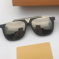 Wholesale metal buffalo - Luxury Full Rim Men Sunglasses Plain mirror Glasses Metal Alloy Golden silver Frame Fashion Vintage Buffalo Horn Glasses With Box