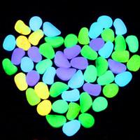 Wholesale Hot cm Medium Glow in the Dark Stone Simulation Lightweight Luminous Pebble Stone For Home Fish Tank Garden Corridor Xmas Decorations