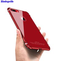 Wholesale Metal Back Iphone Case Bumper - 2017 New For Iphone 8 Plus Case Luxury Glitter Hard Aluminum Metal Bumper +Tempered Glass Armor Protective Back Phone Case Cover