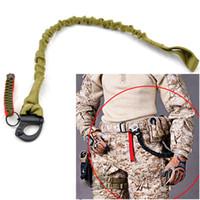 silah kordonu askısı toptan satış-Taktik Survial Sling Askı Hızlı Yayın Askı Gun Sling Güvenlik İpi Açık Dağcılık Kamp Tırmanma Bungee Sling