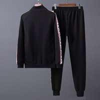 Wholesale cardigan simple - G Autumn Spring New Men's Casual Tracksuits Fashion Simple Upper Body Effect High-Density Webbing Tiger Head Black Gray Sportswear