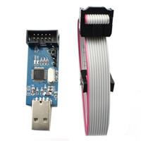 ingrosso tavole avr-1 pz / lotto Programmatore ISP USB per ATMEL AVR ATMega ATTiny 51 AVR Board ISP Downloader Programmatore usbasp