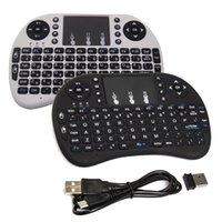 tablet için mini usb fare toptan satış-Şarjlı Mini Rii i8 Kablosuz Klavye 2.4G Hava Fare Klavyeler Akıllı Android TV Box için Uzaktan Kumanda Touchpad MXQ Notebook Tablet Pc