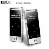 reproductor de música mp3 con pantalla táctil al por mayor-BENJIE S5 Reproductor de MP3 HIFI de pantalla táctil de 8GB BENJIE S5 Metal Alta calidad de sonido Nivel de entrada Sin pérdida Reproductor de música Soporte Tarjeta TF