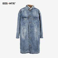Eosnyx long trench coat men sobretudo masculino gabardina abrigos hombre windbreaker Cashmere Denim overcoat invierno 2018