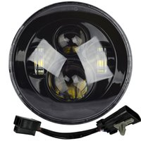 """Wholesale projector kits - 7"""" LED Projector Daymaker Black Headlight Harley Street Glide Softail FLHX FLD With Newer style harness for 2014-2016 Harley's"""