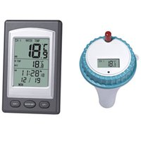 Wholesale thermometer waterproof for sale - Group buy Waterproof Thermometer Wireless Pool Wireless Reception Buoy Pool Thermometers The Swimming Pool Fish Pond Bathtub Accurate New bf dd