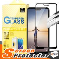 huawei honor cubrir el vidrio al por mayor-Para J2 CORE Huawei Mate 20 X P20 P10 P9 P8 Lite Pro Huawei Honor 7X 6X ascendente xt2 2.5D Cubierta completa Flim Protector de pantalla de cristal templado