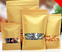 Wholesale brown paper bags for food - 5.29 50pcs lot Brown Kraft Paper Gift Bags Wedding Candy Packaging Recyclable Food Bread Party Bags For Boutique Zip Lock