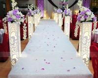 ingrosso fiori di piombo stradali-Stage di matrimonio Stand con LED Light Wedding Bordo in PVC con pilastro scolpito Cuore Design Flower Stand Road Lead