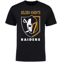 t-shirt gedruckter name großhandel-VEGAS GOLDEN KNIGHTS Raiders Logo Druck T-Shirt FLEURY Neal Karlsson Deryk Engelland David Perron benutzerdefinierte Name Nummer T-Shirt