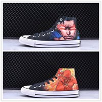Wholesale comic shoes - All Star 2018 new DC Comics x 1970s Casual shoes high-top women men Sports Running shoes size 36-44
