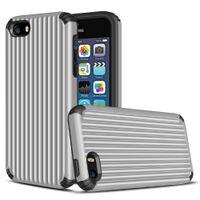 ingrosso back cover iphone 5s style-Custodia ibrida Suitcase Style Design per iphone 5 5s se 6 6s 7 8 Plus X Cover TPU + PC