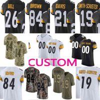 c5757001f custom Men s Youth Women uJu Smith-Schuster T.J. Watt Villanueva Steelers  James Conner Elite Limited camo Jersey