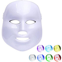 ingrosso maschera di bellezza per il viso-7 colori light therapy LED maschera facciale PDT Photon maschera facciale antirughe acne rimozione viso ringiovanimento della pelle massaggio viso beauty spa dispositivo