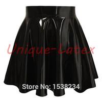 Wholesale Sexy Latex Skirt - Latex Skirt Skater Skirt Rubber Skater Sexy Women's